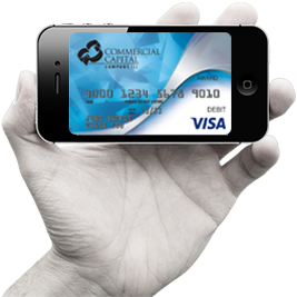 commercial capital vendor rewards visa image on phone