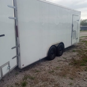 Eagle White Cargo Trailer